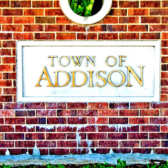 Welcoming visitors and tourists to the city itself, is this grand Addison sign. Formerly known as Peter's Colony, the city of Addison settled in 1849. With a small population, this town is incorporated into Dallas County and is immediately north of Dallas. Giving the impression of a refined, old town, Addison remains a progressive city with unique features only found in big cities.