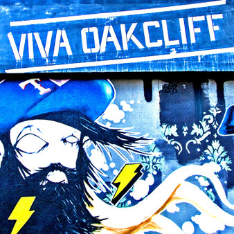 Showing off its art population, this Viva Oak Cliff mural proves the artistic capabilities of many of Dallas' own.