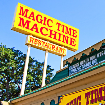 The Magic Time Machine Restaurant first opened its doors in August of 1973, in San Antonio, Texas. Mr. Jim Hasslocher's vision of fine food being served in an energized atmosphere by fun, not stuffy, servers became a reality.