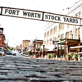 """""""Cowtown"""", also known as the Fort Worth Stockyards' is a historic district that began in 1976. Granting its name by being one of the biggest cattle hoarding locations throughout the nation, this area features Cowtown Winery and the annual Cowtown marathon. Featuring aboriginal buildings, restaurants, shops, saloons and more, the Stockyards National Historic District is great for everyone."""