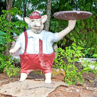 Herman's Rib House Pig Statue