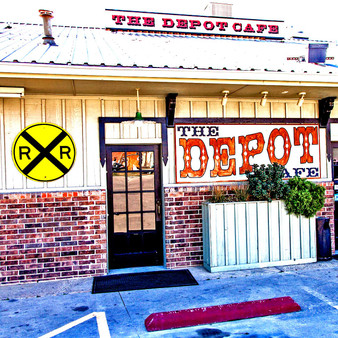 The Depot Cafà . Sign & Architecture. The Depot Cafà serves all-American classics from French toast to chicken fried steak and fried pork chops. With breakfast being served all day, it's also known for its comfort food and homemade desserts. Fitting Frisco itself, this family-owned cafe's theme is centered around trains.