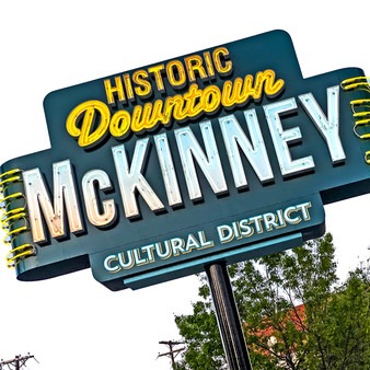 McKinney Historic District Sign