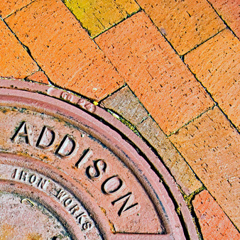 Being that Addison gives the impression of being a refined, old town, this manhole embodies its characteristics, perfectly. With rustic roots from being a town for almost two centuries, Addison remains a progressive city with unique features only found in big cities.