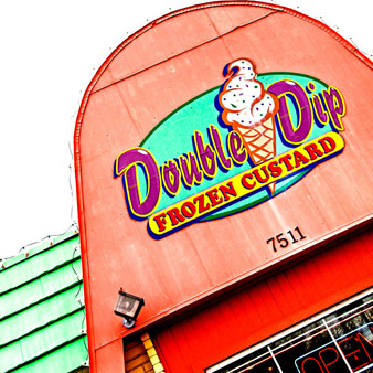 Being Frisco's first and finest in frozen custard, this casual dessert destination features a drive-thru dispensing shakes, sundaes and floats. Now closed, Double Dip Frozen Custard was known for its old-fashioned flavor and unique appeal.