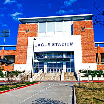 Eagle Stadium is a football stadium in Allen, Texas. The stadium opened on August 31, 2012. It is know as the fifth largest high school stadium in Texas and is owned and operated by the Allen Independent School District,  home of the Allen High School Eagles.