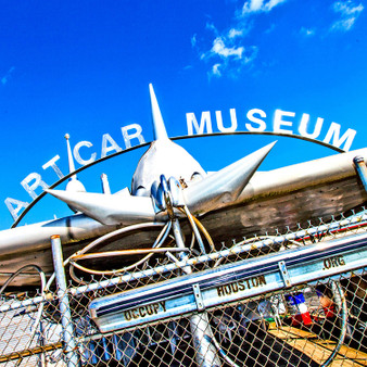 """The ArtCar Museum is a private museum of contemporary art located in Houston, Texas, United States. The museum, nicknamed the """"Garage Mahal,"""" opened in February, 1998. Its emphasis is on art cars, fine arts, and artists that are rarely seen in other cultural institutions."""