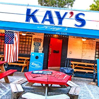 As a relaxed, low-key hangout featuring a Texas-shaped table, Kay's Lounge is a cozy bar with pool tables and tunes from a jukebox.
