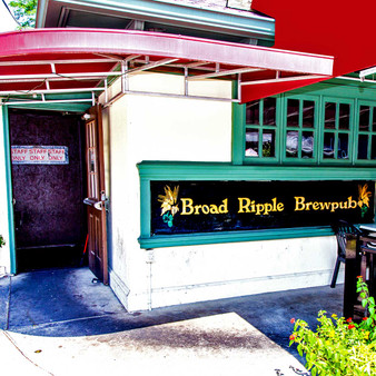 <p>The Broad Ripple Brewpub was established in 1990 by Englishman John Hill, born in Middlesbrough in North Yorkshire, and his wife Nancy, a Hoosier native. It is Indiana's very first brewpub (a restaurant that brews its beer) and the oldest operating brewery in the state.<p><p>Click &lsquo;Choose a Product&rsquo; above to get this image handprinted on a ceramic 4x4 custom coaster, cutting board, magnet, ceramic trivet, ornament, dog tag or canvas.<p>