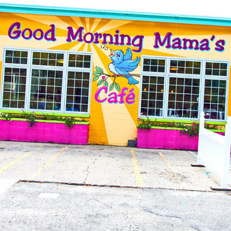 <p>Good Morning Mama's was a gas station turned hopping 1950s brunch spot complete with a jukebox, formica tables & kitsch.<p><p>Click &lsquo;Choose a Product&rsquo; above to get this image handprinted on a ceramic 4x4 custom coaster, cutting board, magnet, ceramic trivet, ornament, dog tag or canvas.<p>