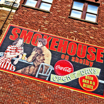 <p>Smokehouse on Shelby is a casual dining spot for lunch or dinner.<p><p>Click &lsquo;Choose a Product&rsquo; above to get this image handprinted on a ceramic 4x4 custom coaster, cutting board, magnet, ceramic trivet, ornament, dog tag or canvas.<p>