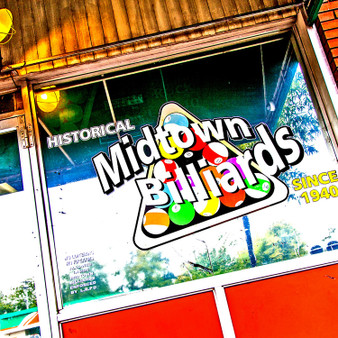"""Midtown is local restaurant which started in 1940 and serve hamburgers, ham sandwiches, turkey, spam and egg, grilled cheese and BLT's. Midtown Billiards  has won """"Best Late Night Bar"""" for 14 years in the Arkansas Times."""