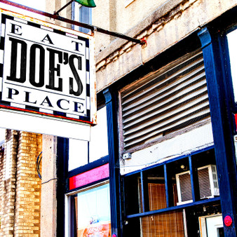 """Doe's Eat Place was founded in 1941 by Dominick """"Doe"""" Signa and his wife, Mamie. Doe's Father moved to Greenville in 1903 and opened a grocery store in the building that now serves as the restaurant."""