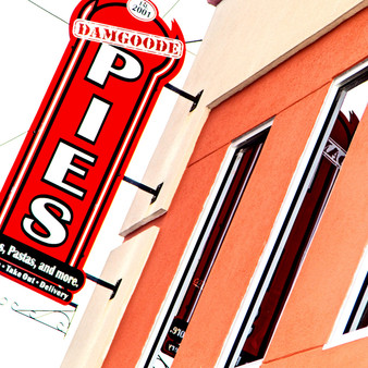 Damgoode Pies Italian restaurant launched on February 23, 2009, serving traditional pizza.  It's a three-time winner of the Arkansas Times Best Pizza award.