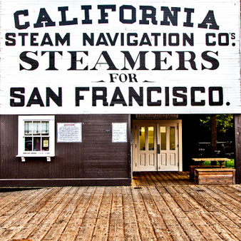 California Steam Navigation Sign