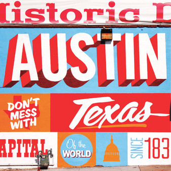 If you're headed to 6th street in downtown Austin you won't be able to miss this colorful mural! It was designed and painted by Sanctuary Printshop in 2012 as an homage to Austin as the live music capital of the world.