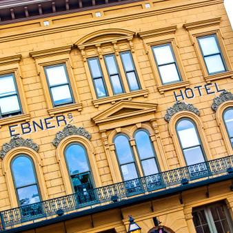 Ebner's Hotel Sign