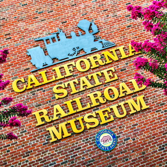 California State Railroad Museum Sign