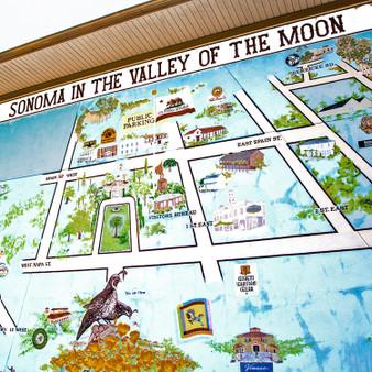 Sonoma Landmark Map Mural