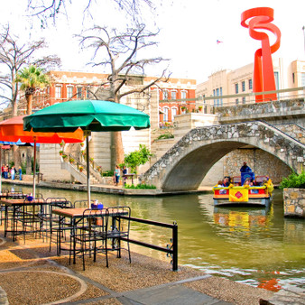 """Known as """"La Antorcha de la Amistad"""" or """"The Torch of Friendship"""", this infamous statue featured in the River Walk area has become a great focal point, tourist destination, and photo-op."""