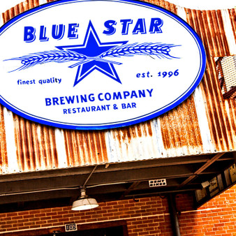 The Blue Star Brewing Company opened in 1996 and is located at the beginning of the Mission Reach, a major bike friendly and pedestrian thoroughfare to the city's cultural and historical features that run along the San Antonio River. Featuring delicious food and organic beer, this restaurant and bar is known for having customers stay awhile.