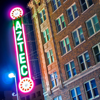 A timepiece in downtown, The Aztec Theatre is San Antonio's premier historical multi-purpose entertainment and events facility. Additionally, this theater is one of Alamo City's most cherished architectural landmarks due to its Meso-American features. Still putting on events and shows today, the Aztec Theatre opened in 1926 and was known as one of the most decorative movie theaters in the country.