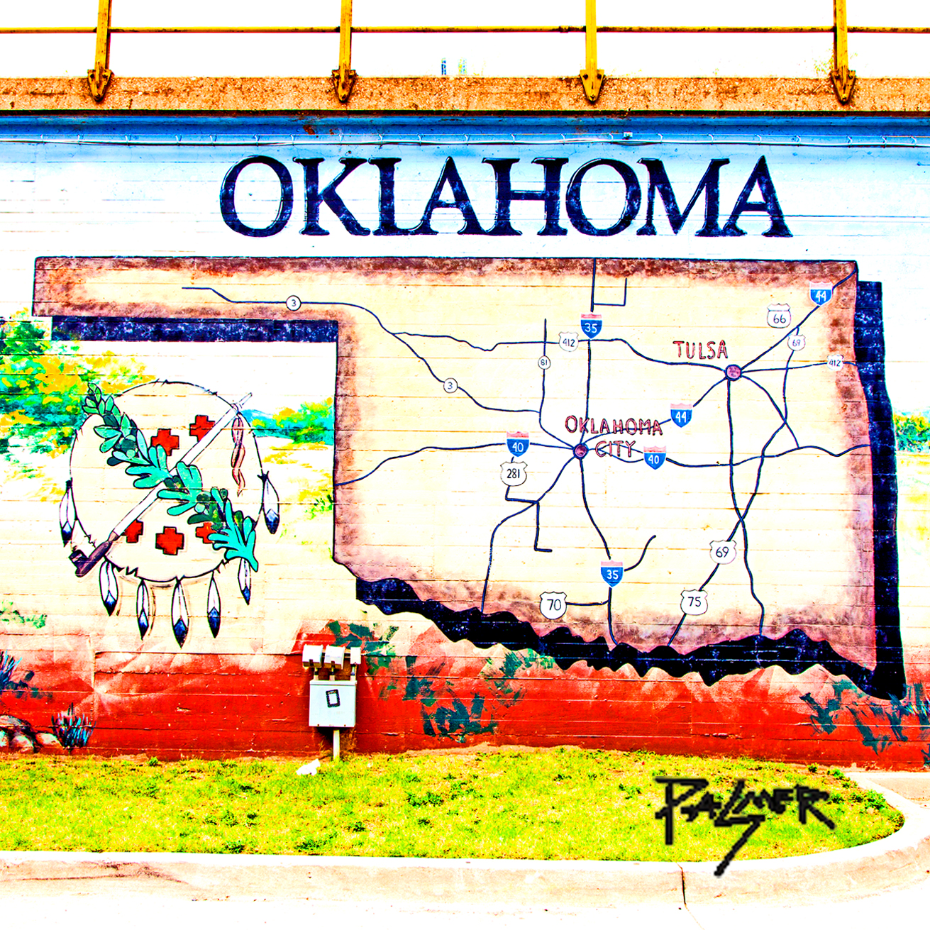 Picture of: Oklahoma Map Mural