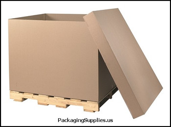 "Boxes 48 x 40 x 36"" HSC Bottom 48 ECT   275# D.W. Bulk Cargo Container BSCGAYLORDDW"