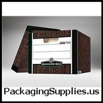"Premium File Storage Boxes Premium File Storage Box - 15 x 12 x 10"" Woodgrain (12 case) - #519668   FEL00725 FSB100"