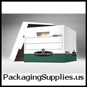 "Premium File Storage Boxes Premium File Storage Box - 15 x 12 x 10"" Green (12 case) - #406460   FEL07241 FSB160"