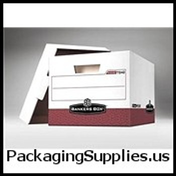 "Premium File Storage Boxes Premium File Storage Box - 15 x 12 x 10"" Red (12 case) - #406451   FEL07242 FSB180"