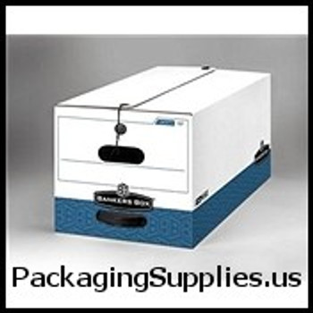 "String & Button File Storage Boxes String and Button Box - 24 x 15 x 10"" Legal Size (4 case) - #575144   FEL0070503 FSB680"