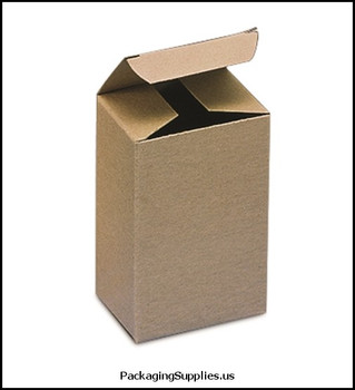 "Kraft Reverse Tuck Folding Cartons 2 3 8 x 1 1 2 x 3 1 2"" Kraft Reverse Tuck Folding Carton (500 Cs) BSRTS39"