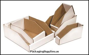 "Open Top Bin Boxes 3 x 18 x 4 1 2"" Open Top Bin Box BSBINBWZ318"