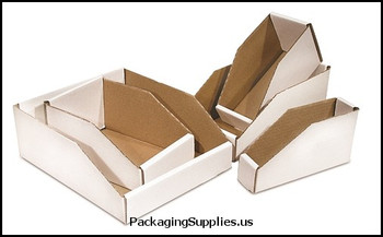 "Open Top Bin Boxes 4 x 12 x 4 1 2"" Open Top Bin Box BSBINMT412"