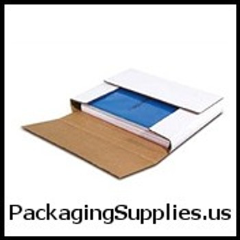 "White Multi-Depth Corrugated Bookfolds 12 1 8 x 9 1 8 x 2"" White Multi-Depth Corrugated Bookfold BSM2BK"