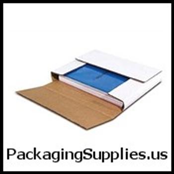 "White Multi-Depth Corrugated Bookfolds 12 1 8 x 9 1 8 x 1"" White Multi-Depth Corrugated Bookfold BSM1291"