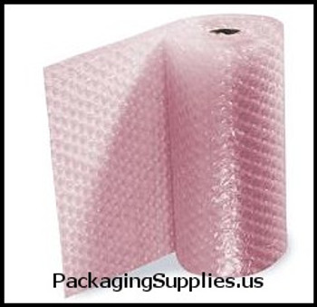 "Anti-Static Perforated Bubble Rolls 1 2"" 48"" x 250` Anti-Static Slit 24"" Perfed 12"" Large Bubble (2 rolls bundle) CBSBW12S24ASP"