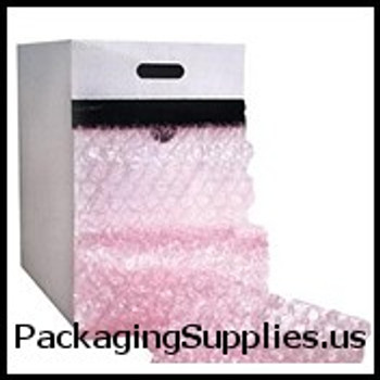 "Anti-Static Bubble Dispenser Packs 5 16"" 24"" x 100` Perfed 12"" Anti-Static Medium Bubble Dispenser Pack CBD51624AS"
