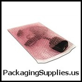 "Anti-Static Self Seal Bubble Pouches 7 x 8 1 2"" 3 16"" Anti-Static Self-Seal Bubble Pouches (550 case) CBOB78AS"
