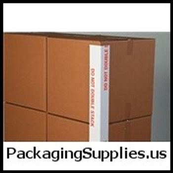 DO NOT DOUBLE STACK Printed Edge Protectors 3 x 3 x 48 160 Do Not Double Stack Printed Edge Protector (1600 Skid) VBDEP3348160DS