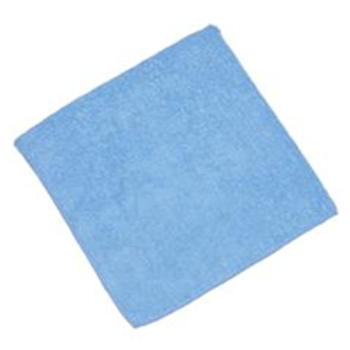 Microfibre Products|16X16 BLUE MICROFIBER CLOTHS (12/cs)|245705