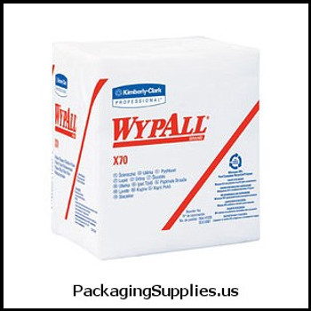 Wypall Wipers WypAll® X70 White Wipers in a Box - 76 wipers box (12 boxes case) (MFG# 41200) 885111