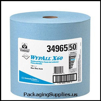 Wypall Wipers WypAll® X60 Blue Wipers on a Roll (1100 feet roll) (MFG# 34965) 892411