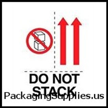 "Anti-Static Labels #DL4481 3 x 4"" Do Not Stack (Boxes,Arrows) Label LABDL4481"
