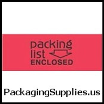 "Special Handling Labels #DL3611 2 x 3"" Packing List Enclosed(Flourescent Red Black) Label LABDL3611"