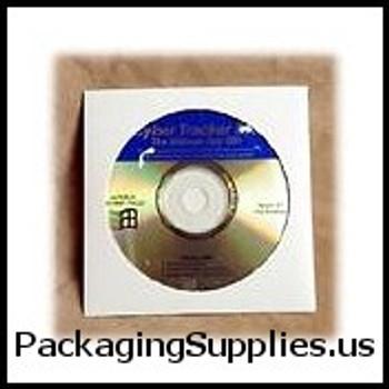 "Paperboard CD Mailers & Sleeves 5 x 5"" #CD2 White Paperboard CD Sleeve with Window (500 Case) ENVRMCD2"