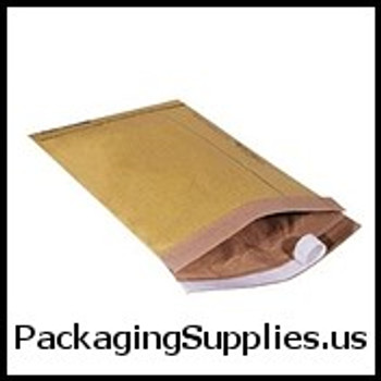 "Kraft Peel & Seal Padded Mailers #5-50707 10 1 2 x 16"" Kraft Self-Seal Padded Mailer (100 Case) ENVB809SS"