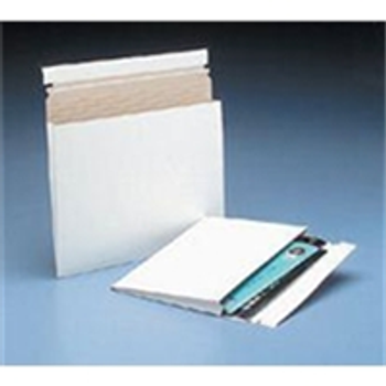 "Expand-A-Mailer™ White Self-Seal Gusseted Mailer|10 x 7 3/4 x 1"" #1G White Expand-A-Mailer™ Gusseted Paperboard Mailer (100/Cs)