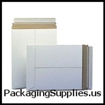 "Stayflats® Plus White Top-Loading Self-Seal Mailer 7 x 9"" #10PSW White Self-Seal Stayflats® Plus Mailer (100 Case) ENVRM10PSWSS"